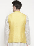 Silk Jaquard Yellow Jacket - MMWC081