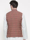 Chanderi Mustard Red Jacket - MMWC090