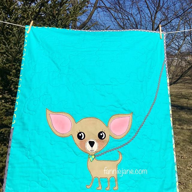 Chihuahua baby quilt/wallhanging