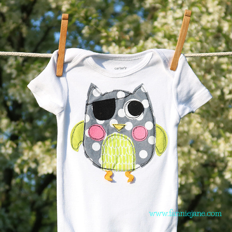 Pirate owl PDF sewing pattern