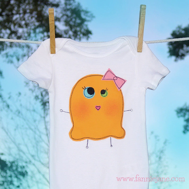 handmade monster girl baby onesie