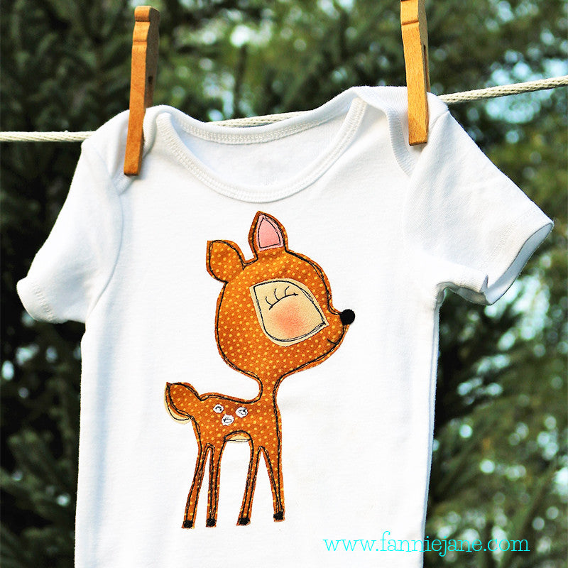 Baby deer snap bottom t-shirt