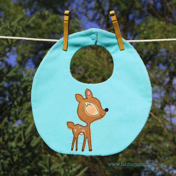 """Oh deer""  bib baby deer sewing pattern PDF"