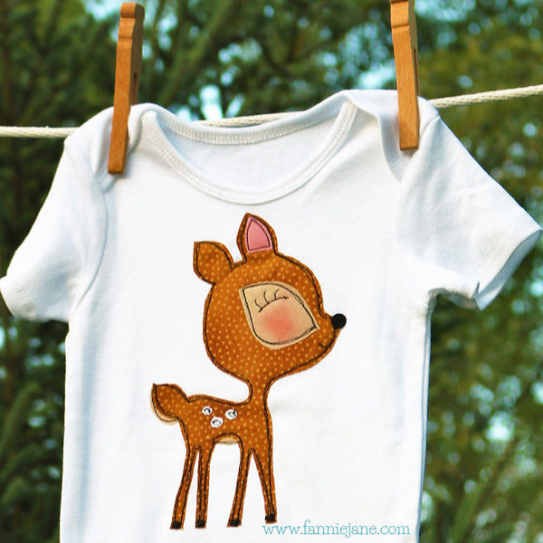 Baby deer applique  PDF sewing pattern
