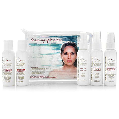 5-Piece Travel Haircare Set w/ Cosmetic Pouch - Joyce Miracle Elixir Collection