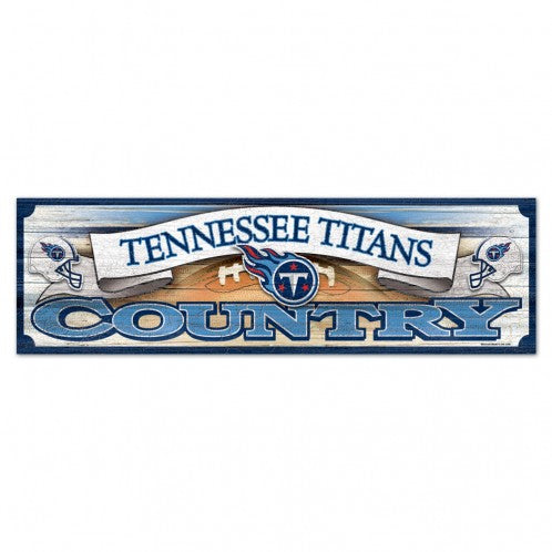 "TENNESSEE TITANS WOOD SIGN 9"" X 30"" - AtlanticCoastSports"