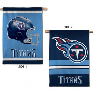 "TENNESSEE TITANS VERTICAL FLAG 2 SIDED 28"" X 40"" - AtlanticCoastSports"