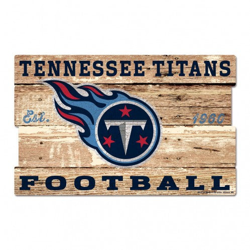 "TENNESSEE TITANS WOOD SIGN 19""X30"" - AtlanticCoastSports"