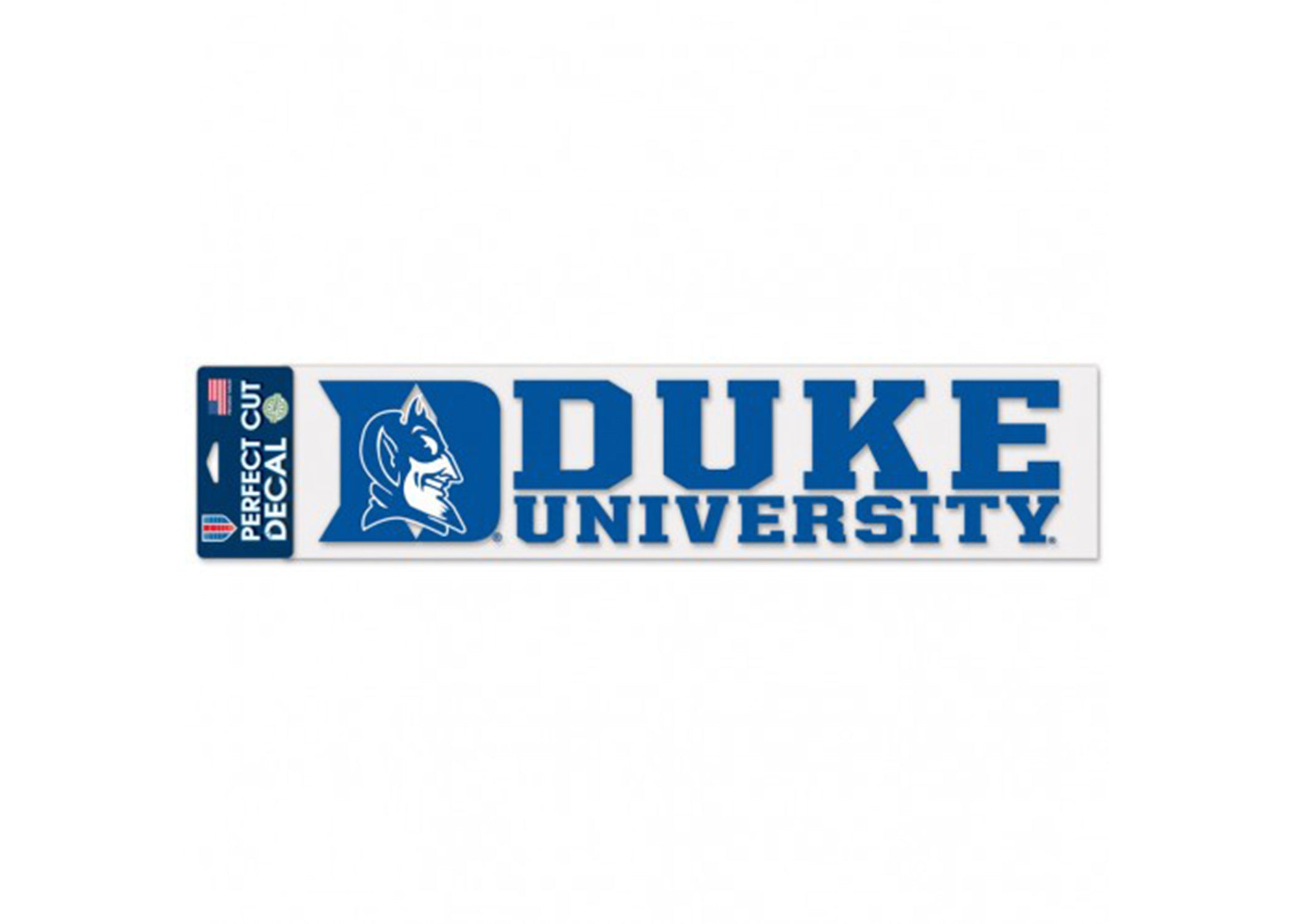 "DUKE UNIVERSITY PERFECT CUT DECALS 4"" X 17"" - AtlanticCoastSports"