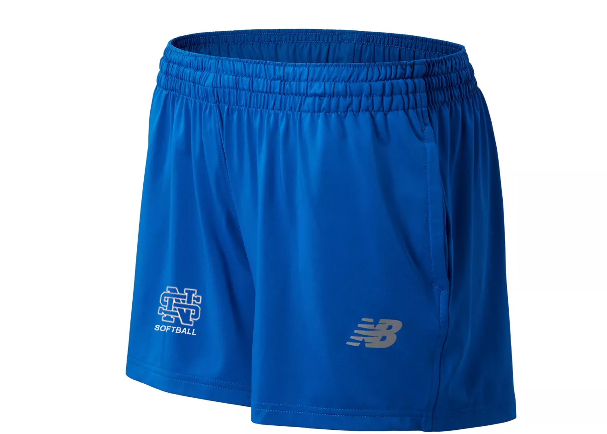"New Balance Women's 4"" Tech Short NORTH SURRY SOFTBALL - AtlanticCoastSports"