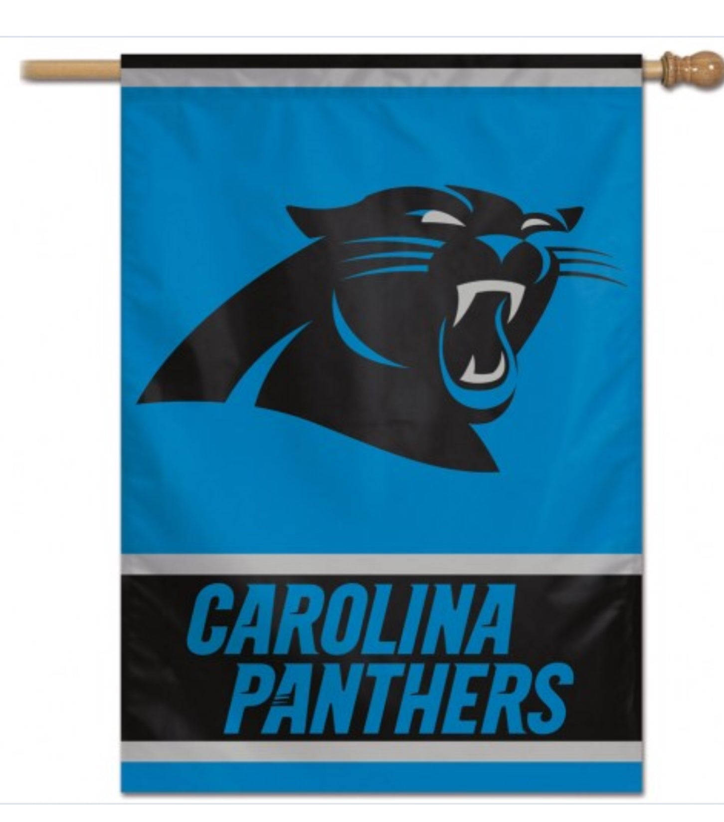 "CAROLINA PANTHERS VERTICAL FLAG 28"" X 40"" - AtlanticCoastSports"
