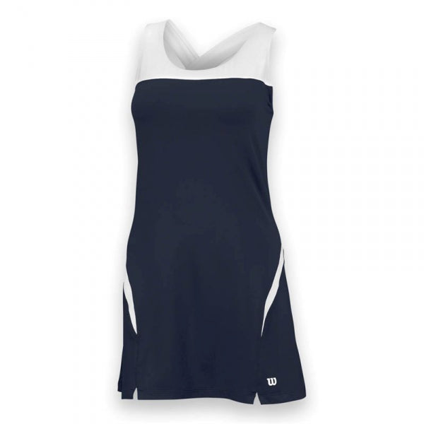 Wilson Women's Team Tennis Dress (Navy/White) - AtlanticCoastSports