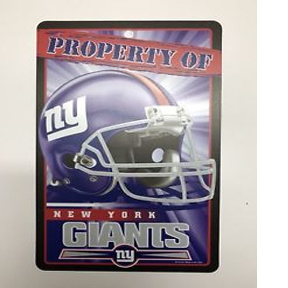 Wincraft Property Of Sign New York Giants Plastic Sign 7 x 12 New - AtlanticCoastSports