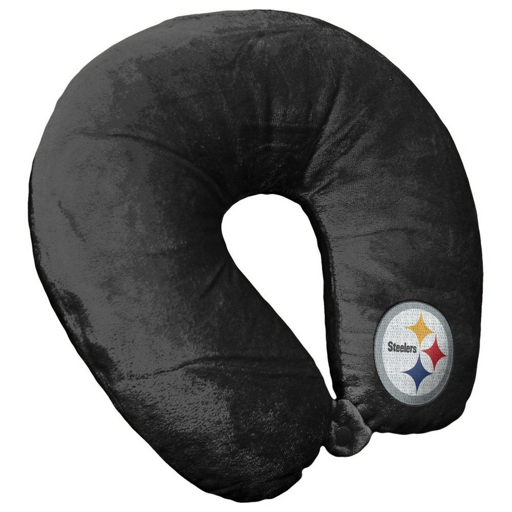 NFL Pittsburgh Steelers Travel Pillow U Neck Pillow | Travel Pillows for Airplanes, Pittsburgh Steelers U shaped Neck Pillow - AtlanticCoastSports