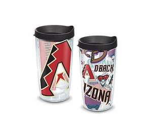Tervis MLB® Arizona Diamondbacks™ All Over and Colossal Wrap With Travel Lid 2-Pack Gift Set - Boxed - AtlanticCoastSports
