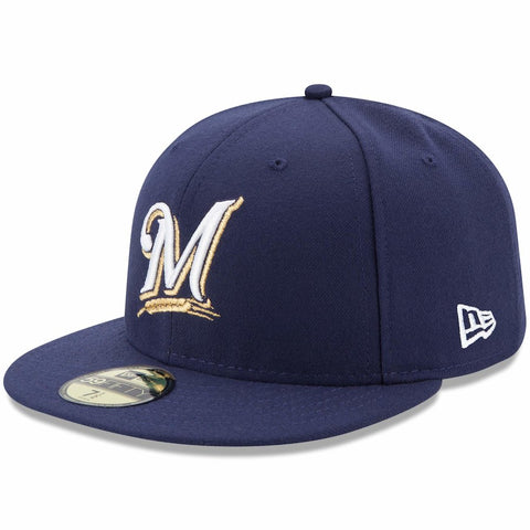 Milwaukee Brewers New Era Authentic Collection On Field 59FIFTY Fitted Hat - Navy size 7 - AtlanticCoastSports
