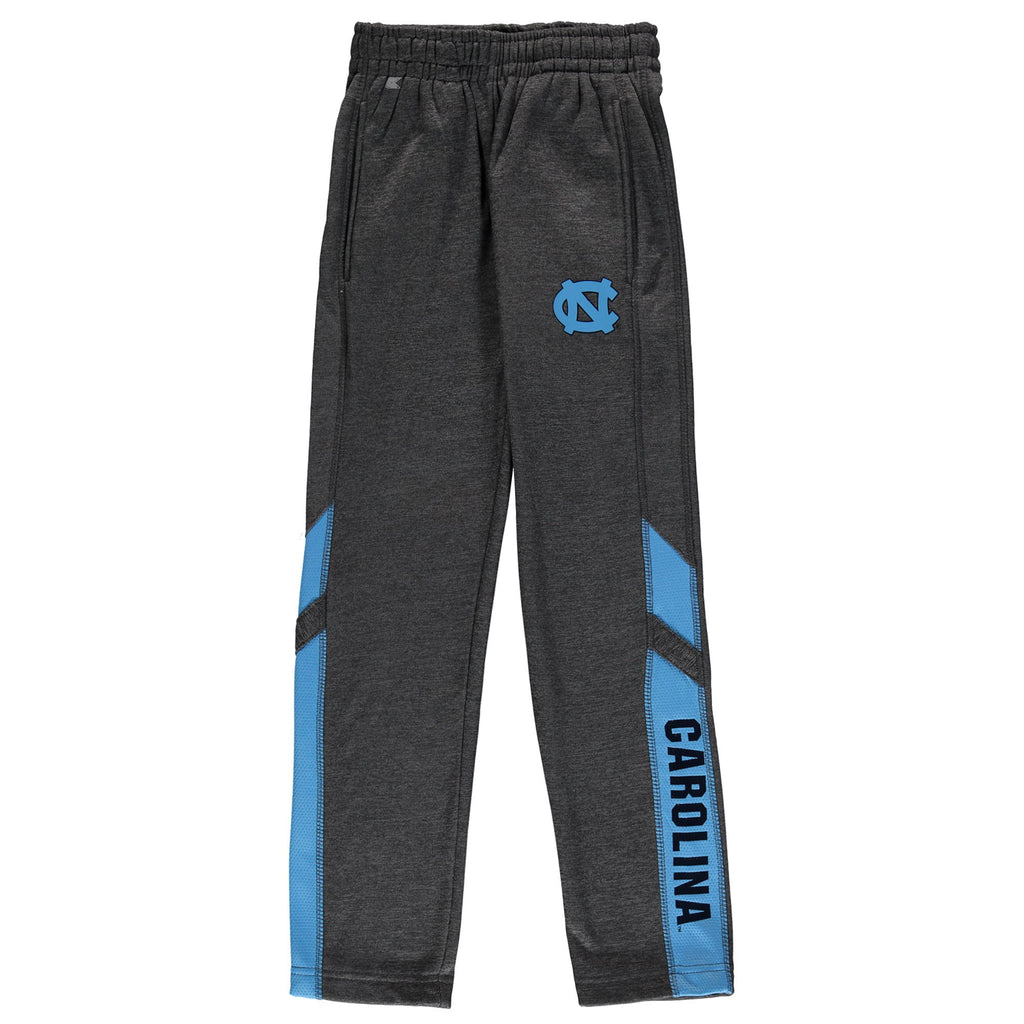 Colosseum North Carolina Tar Heels Youth Heathered Charcoal Fleece Pants Youth XS - AtlanticCoastSports