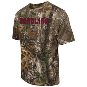 South Carolina Gamecocks Colosseum Realtree Xtra Camo Short Sleeve T-Shirt