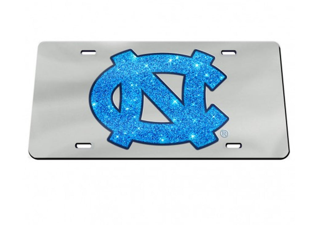 North Carolina, University of  Acrylic Classic License Plates Glitter - AtlanticCoastSports