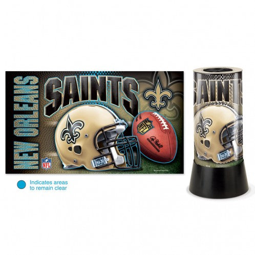 "NEW ORLEANS SAINTS ROTATING LAMP 12""H - AtlanticCoastSports"