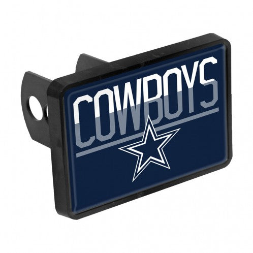 Dallas Cowboys Duo-Tone Rectangular Plastic Hitch Cover - AtlanticCoastSports