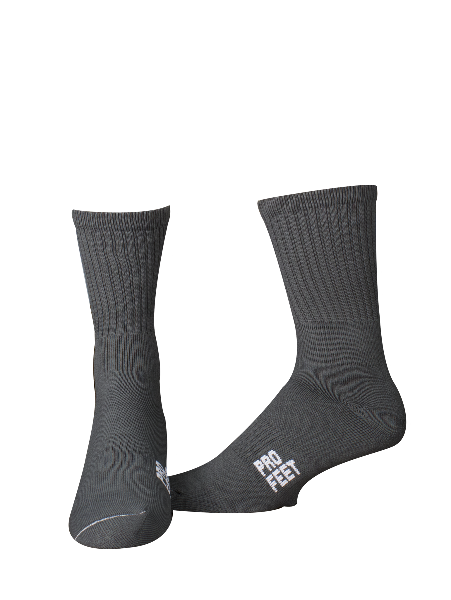 Pro Feet 385 Colored Crew Socks -- Graphite - AtlanticCoastSports