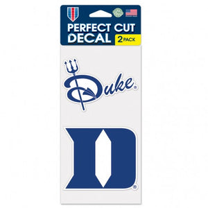 "DUKE UNIVERSITY PERFECT CUT DECAL SET OF TWO 4"" X 4"" - AtlanticCoastSports"
