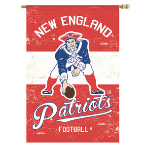 New England Pats Vintage Throwback House Flag - AtlanticCoastSports