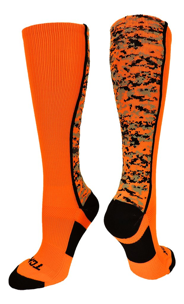 Digital Camo OTC Socks Neon Orange Black - AtlanticCoastSports
