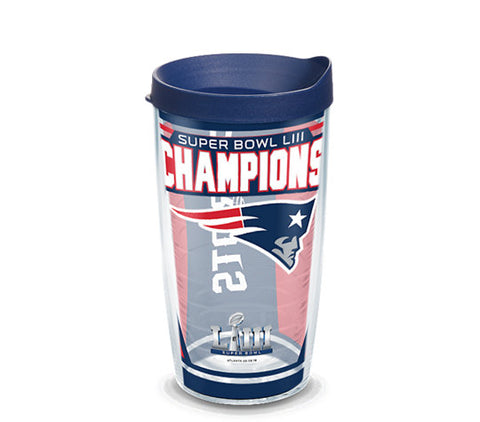 Tervis NFL® New England Patriots Super Bowl 53 Champions Wrap With Travel Lid