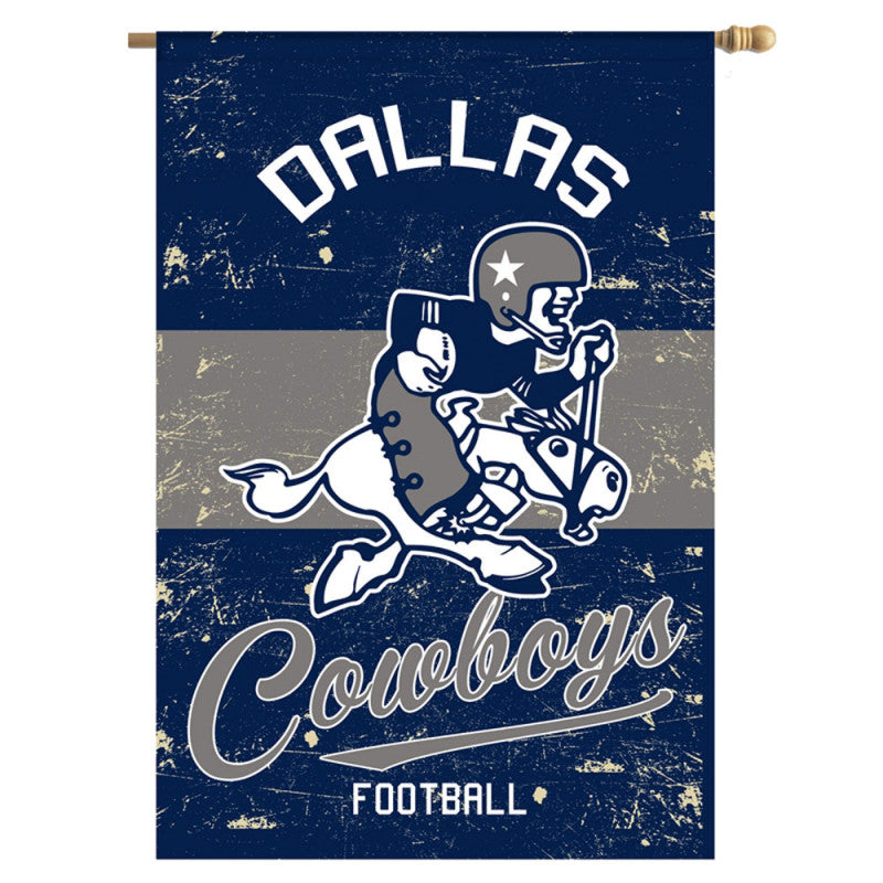Dallas Cowboys Vintage Linen House Flag - AtlanticCoastSports