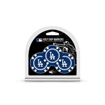 Team Golf Los Angeles Dodgers Poker Chips Ball Markers - 3-Pack - AtlanticCoastSports