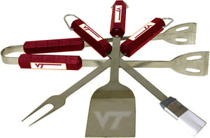 COLLEGIATE Virginia Tech 4 Piece BBQ Set - AtlanticCoastSports