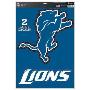 "Detroit Lions 11"" x 17"" Multi Use Decals - Auto, Walls, Windows, Cornhole - AtlanticCoastSports"