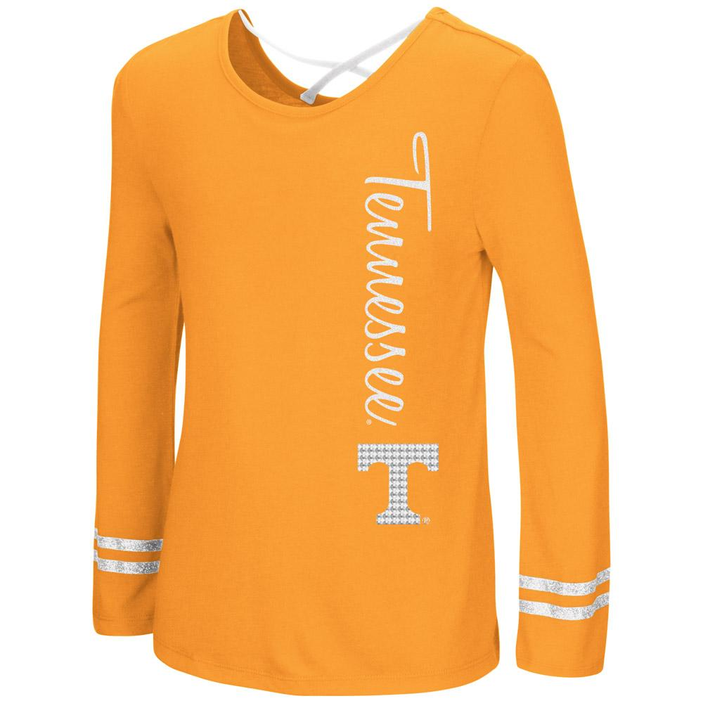 Vols- Tennessee Colosseum Youth Girls X Back Top Tee