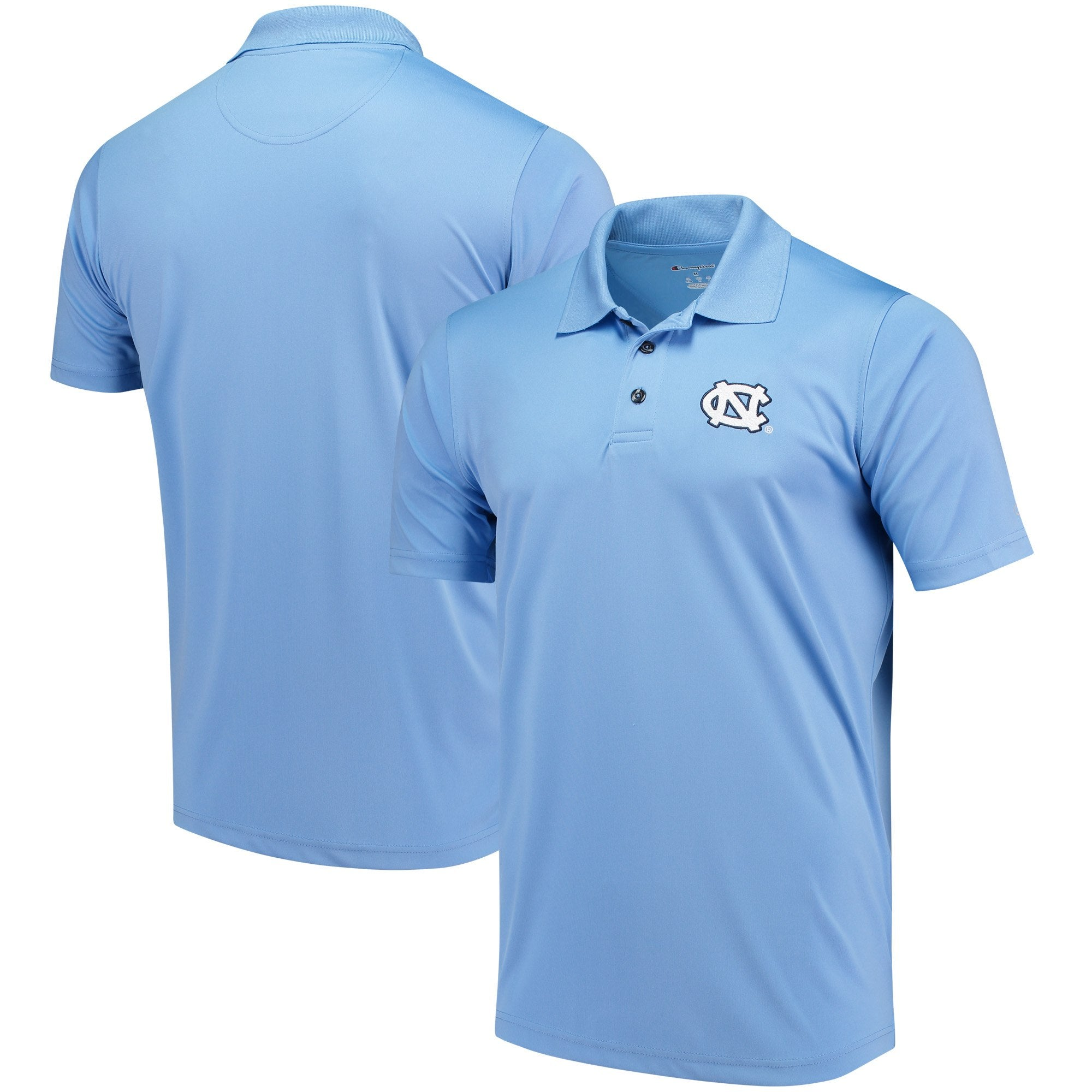 North Carolina Tar Heels Champion Solid Interlock Polo - Carolina Blue - AtlanticCoastSports