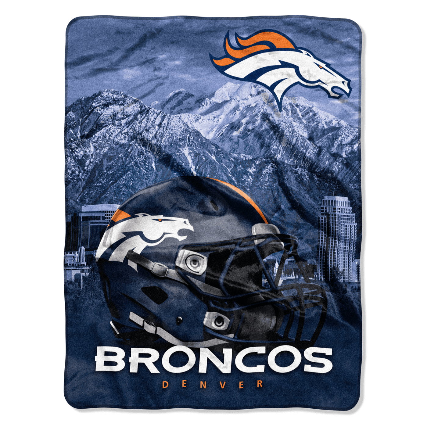 Denver Broncos Silk Touch Throw Blanket (60x80) - AtlanticCoastSports