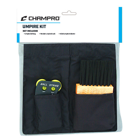 Champro Umpire Kit Ball Bag Counter and Plate Brush - AtlanticCoastSports