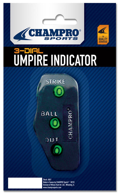 Baseball 3-Dial Traditional Umpire Indicators - AtlanticCoastSports
