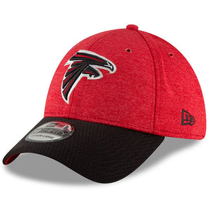 Atlanta Falcons New Era 2018 NFL Sideline Home Official 39THIRTY Flex Hat – Red/Black - MED-LARGE - AtlanticCoastSports
