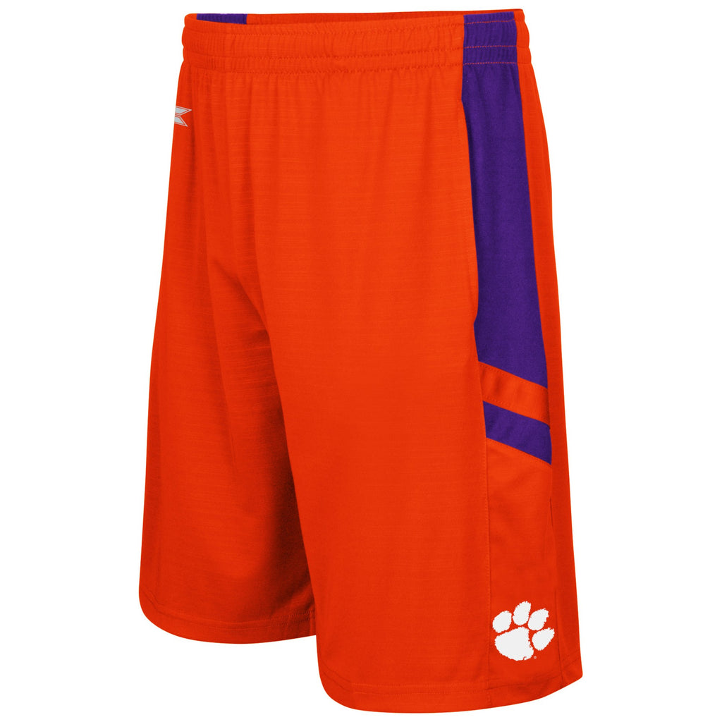 Clemson Tigers Colosseum Big and Tall Setter Short - Orange ADULT SMALL - AtlanticCoastSports