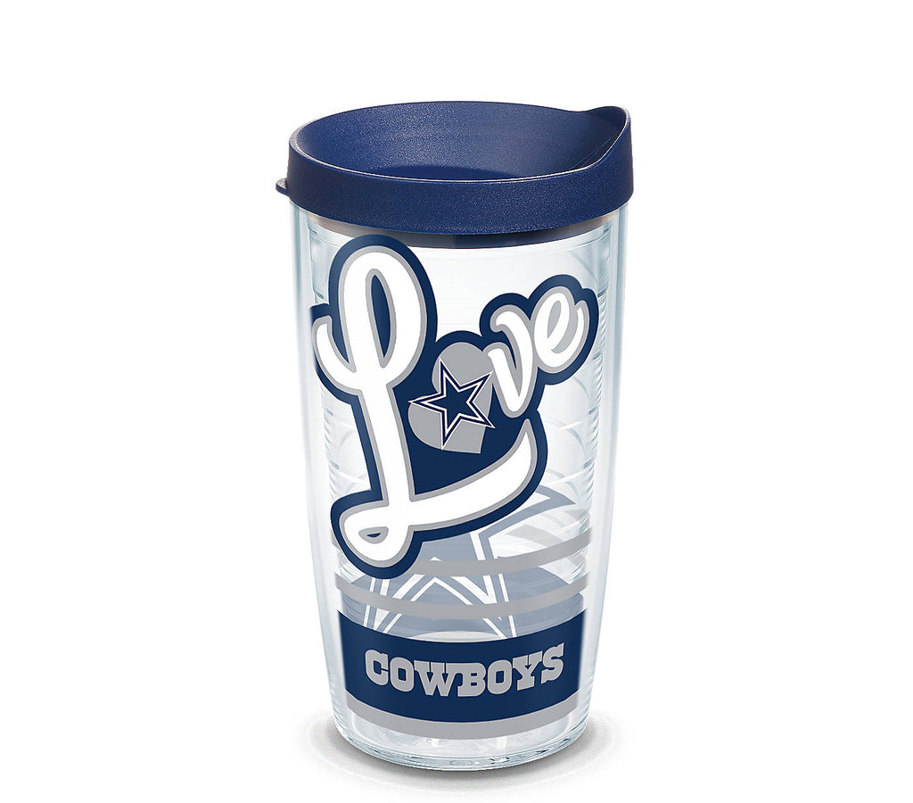 Tervis NFL® Dallas Cowboys Love Wrap With Water Bottle Lid - AtlanticCoastSports