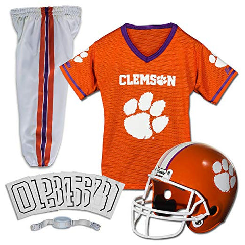 Clemson Tigers College Football Deluxe Uniform 5 Piece Set (SMALL) 4-6 - AtlanticCoastSports