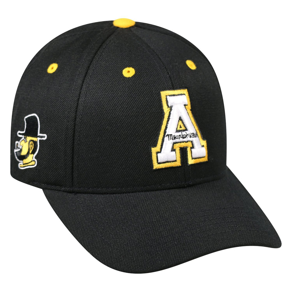 APPALACHIAN ST ADJUSTABLE STRAP BLACK TRIPLE THREAT - AtlanticCoastSports