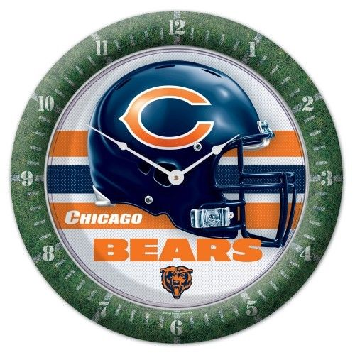 Wincraft NFL Round Wall Game Clock New Chicago Bears - AtlanticCoastSports