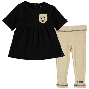 Girls Infant Colosseum Army Black Knights Pinchers of Peril Pocket T-Shirt & Leggings Set - AtlanticCoastSports