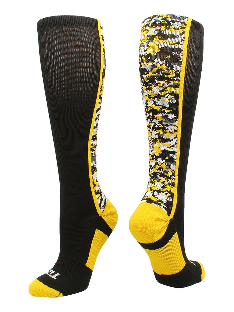 Digital Camo OTC Socks BLACK/GOLD Large Mens shoes 9 - 12 Womens 10 - 13 - AtlanticCoastSports