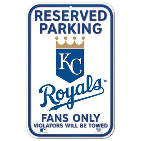 Kansas City Royals 11 X 17 Reserved Parking Sign White - AtlanticCoastSports