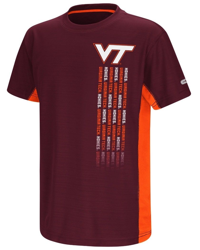 "Virginia Tech Hokies NCAA ""Power Set"" Youth Short Sleeve Performance T-Shirt - AtlanticCoastSports"