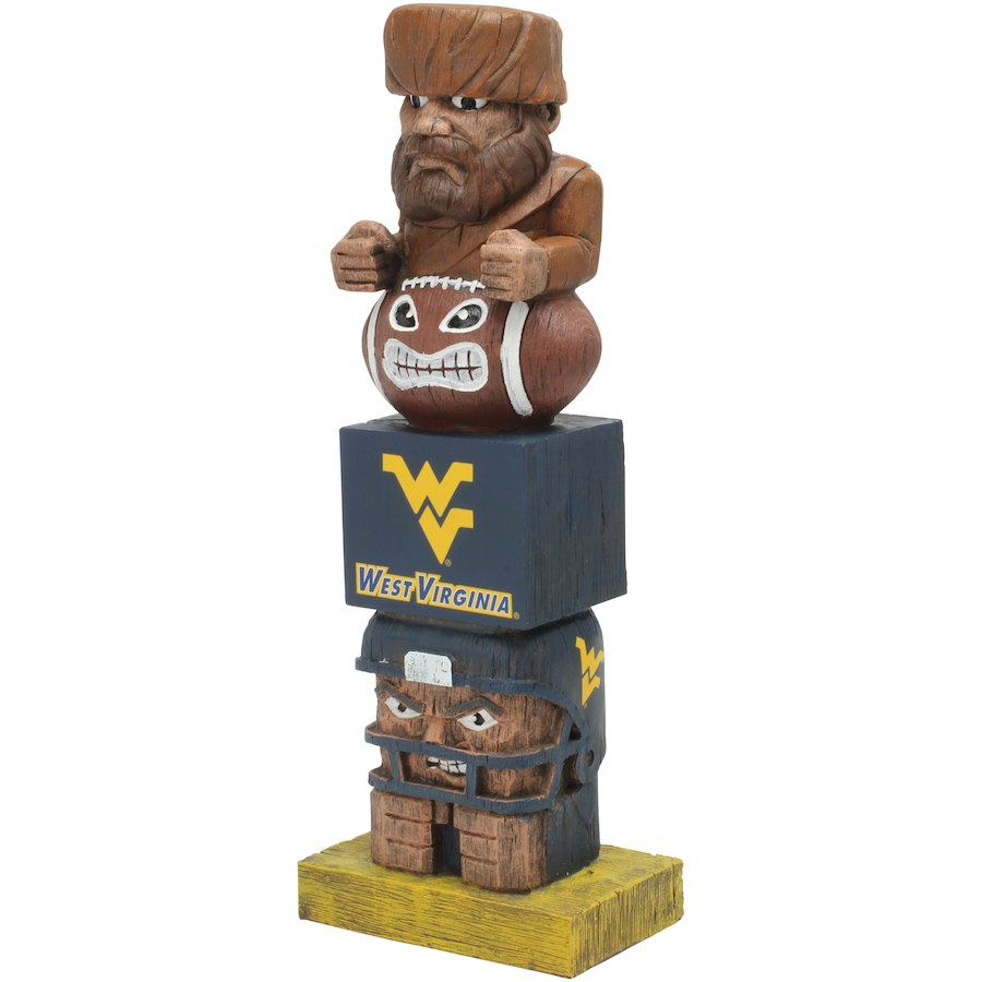West Virginia Mountaineers Tiki Totem - AtlanticCoastSports
